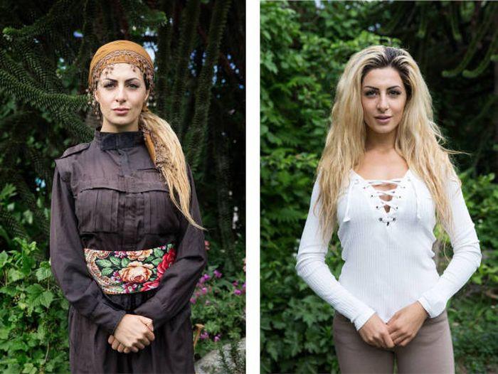 Девушка курдского происхождения бросила учебу в Дании ради борьбы с ИГИЛ (18 фото)