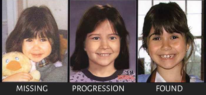 Пропавшие без вести, но найденные дети (4 фото)