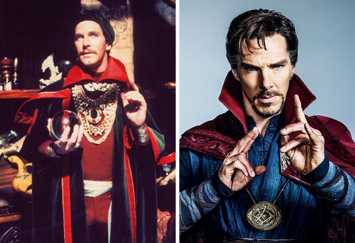 Известные супергерои тогда и сейчас (14 фото)