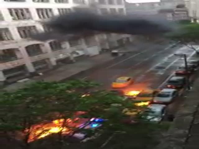 Взрывающиеся автомобили на съемках «Форсаж 8»