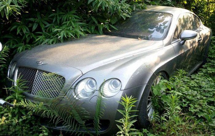В Китае обнаружили свалку дорогих машин с автомобилями Bentley, Mercedes-Benz и Land Rover (5 фото)