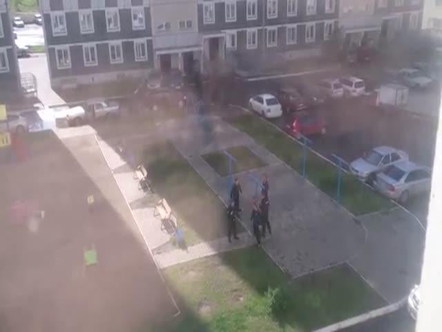 Прохожие помогли полиции задержать хулиганов