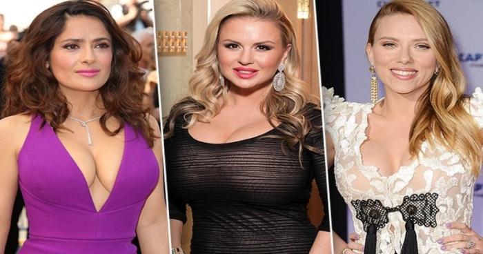Знаменитости с натуральной большой грудью (11 фото)