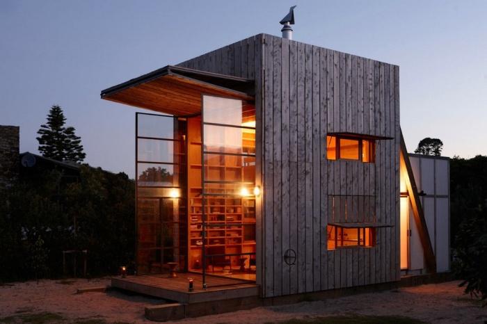 Комфортный дом на побережье в Новой Зеландии (18 фото)