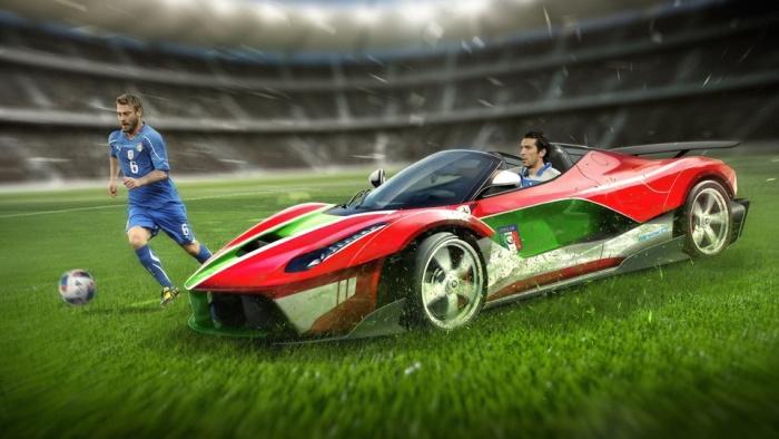 Автомобили команд-участниц чемпионата Евро-2016 (10 фото)