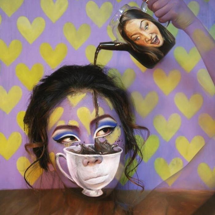 Оптические иллюзии на собственном лице (9 фото)