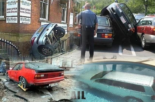 Водители, которые не научились парковаться (12 гифок)