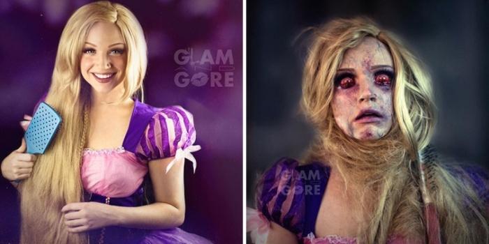 Визажист-самоучка демонстрирует печальные судьбы принцесс (11 фото)