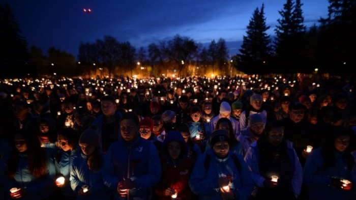Акция «Свеча памяти» в память о жертвах Великой Отечественной войны (6 фото)