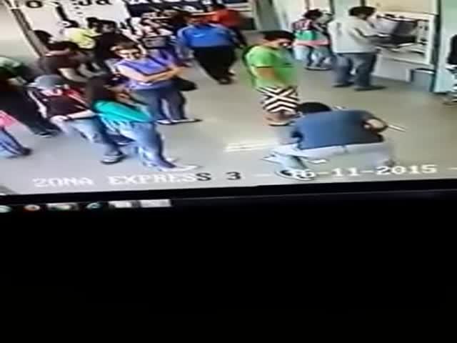 Грабитель выбрал не ту жертву