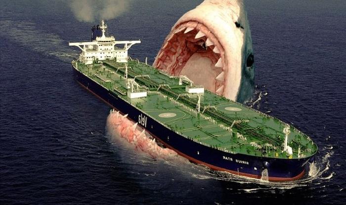 Битва морских титанов: Мегалодон vs Левиафан Мелвилла (7 фото)