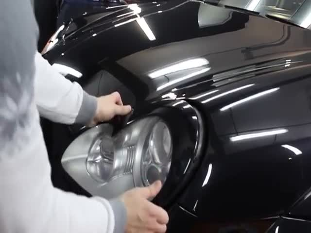 Мгновенное снятие фар с Porsche Cayenne