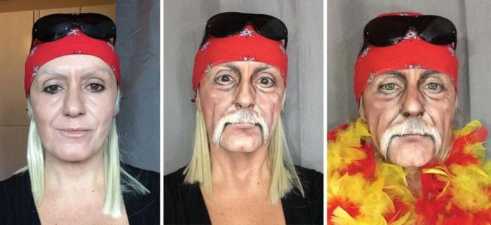 При помощи макияжа итальянка превращает себя в известных персонажей (18 фото)