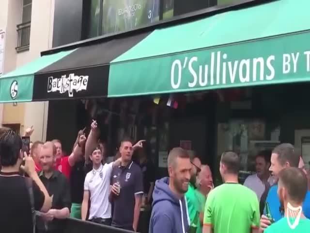 Ирландские болельщики троллят англичан