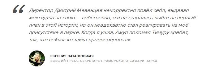 Бывший пресс-секретарь Приморского сафари-парка заявила, что дружба Амура и Тимура была фейком (3 фото)