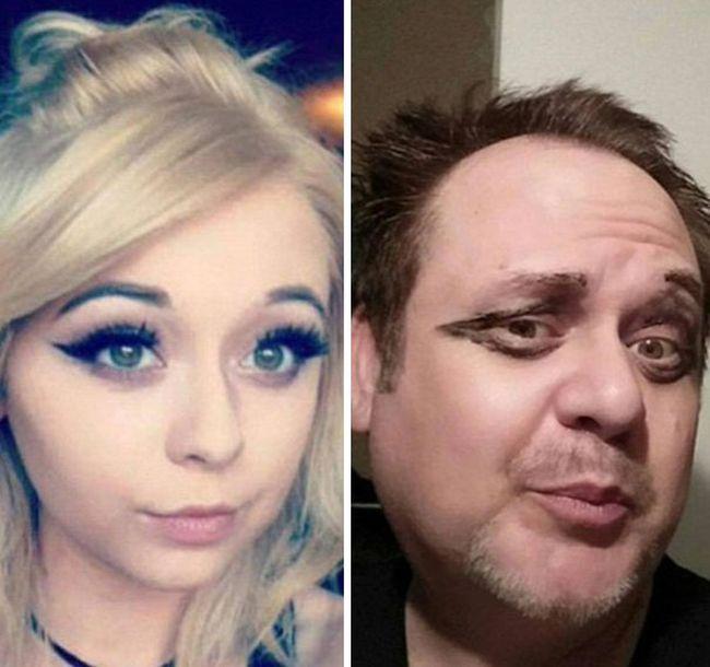Отец троллит дочь в социальных сетях (6 фото)