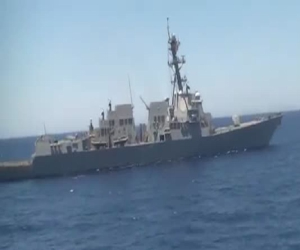 Американский эсминец приблизился на опасное расстояние к российскому военному кораблю
