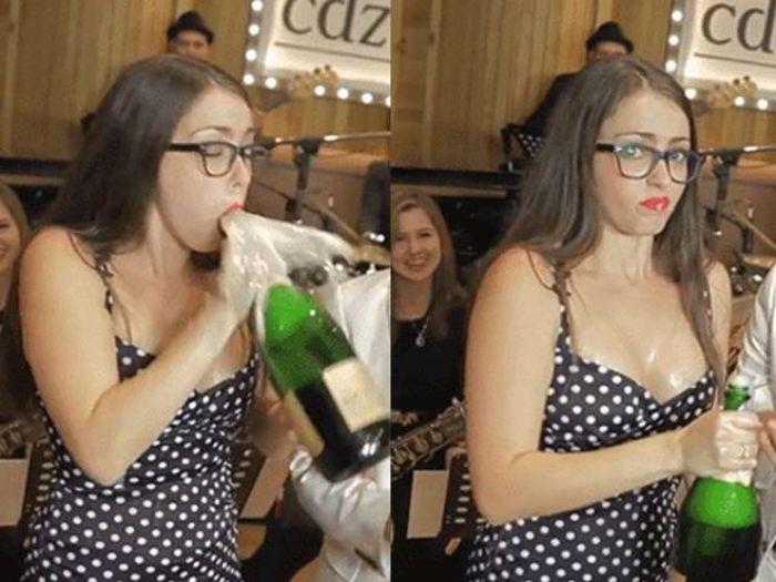 Как не стоит открывать шампанское (15 гифок)