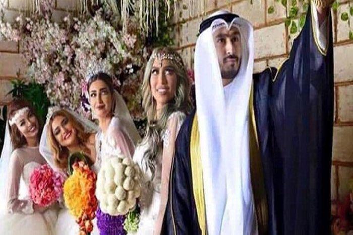 Ради мести бывшей жене кувейтянин женился на четырех девушках (3 фото + видео)