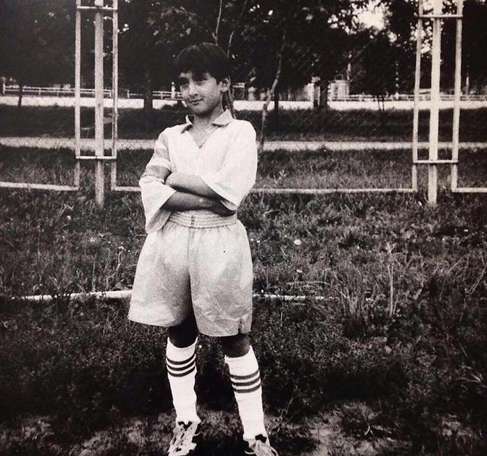 Детские фото футболистов сборной России (21 фото)