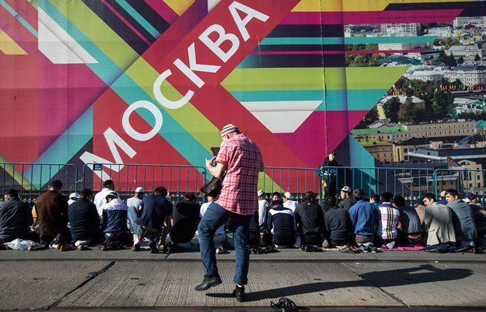 Празднование Ураза-байрама в Москве (15 фото)