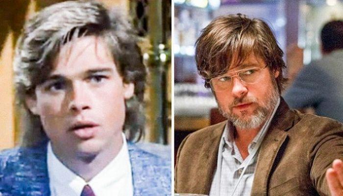Известные актеры на своих первых съемках и сейчас (14 фото)