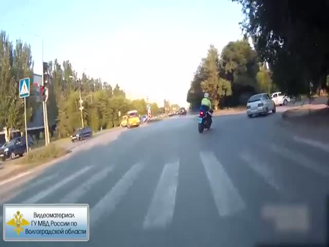Погоня и задержание нетрезвого водителя в Волжске