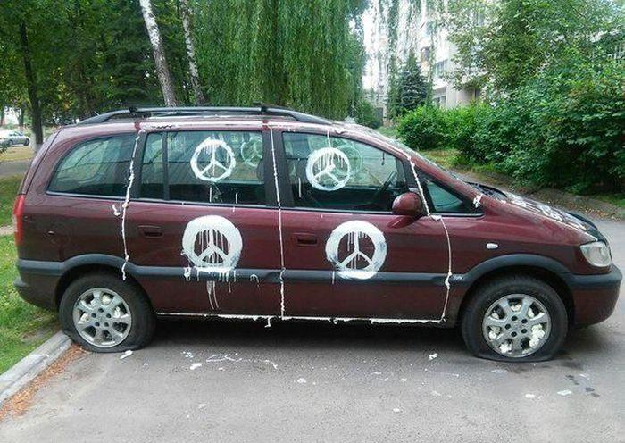 Случай автомести в Гомеле (6 фото)