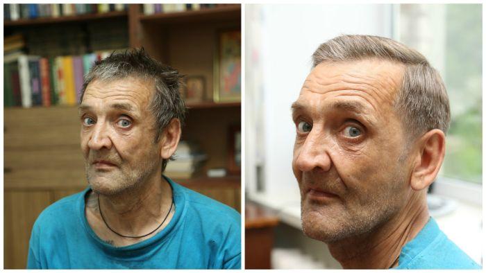 Кировские барберы бесплатно постригли бездомных мужчин (10 фото)
