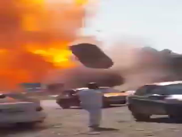 Взрыв на заправке в Таджикистане