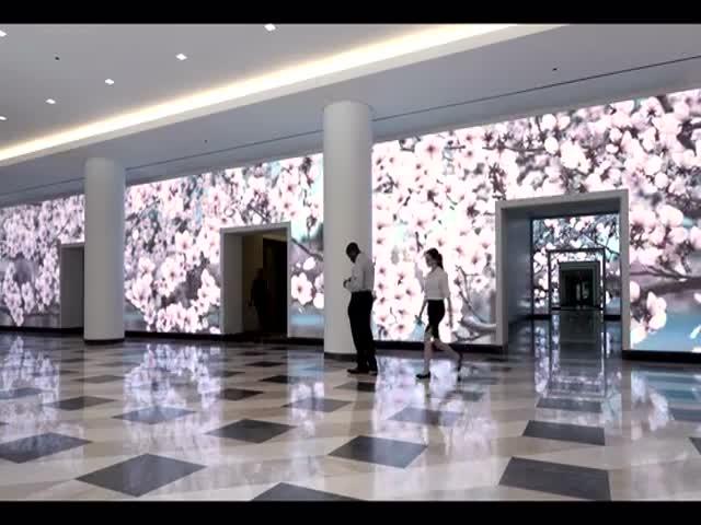 В Вашингтоне появилась интерактивная стена