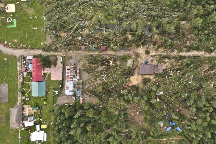 Последствия разбушевавшейся стихии в Белоруссии (7 фото)