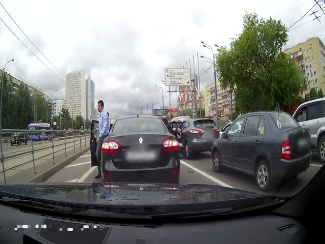Столкновение пешехода с мопедом