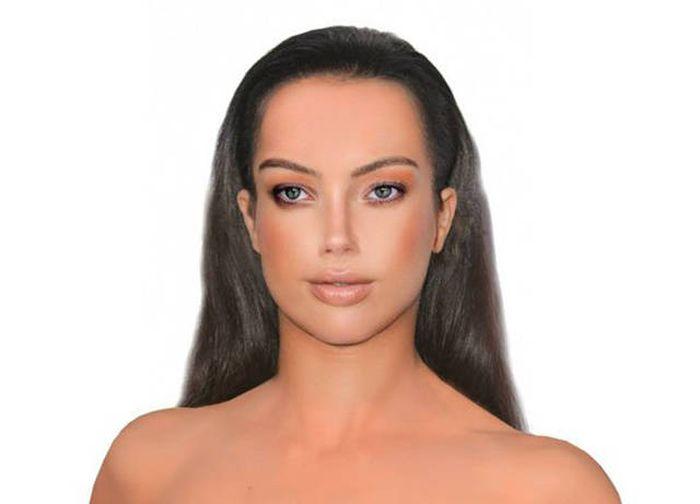 Фото идеальных параметров лица одна
