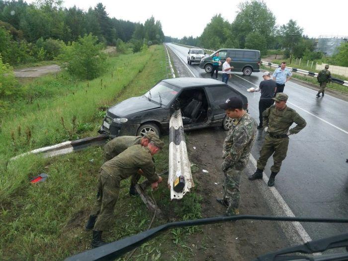 Вот что значит, чудом выжить в аварии (2 фото)