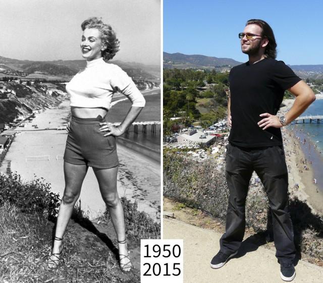 Житель Лос-Анджелеса показывает, как с годами меняются известные места из фильмов (21 фото)