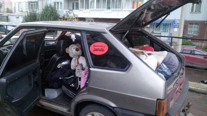 Трое россиянок отправились в Амстердам на ВАЗ 2109 (4 фото + видео)