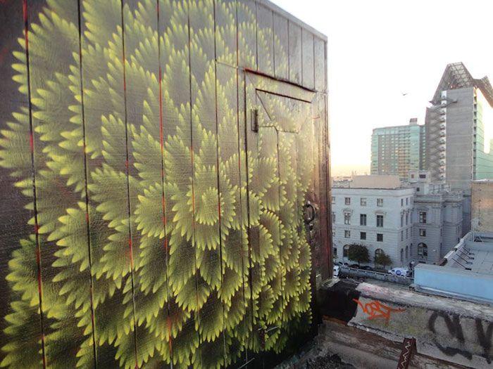 Калейдоскопические граффити Дугласа Хокзема (12 фото)