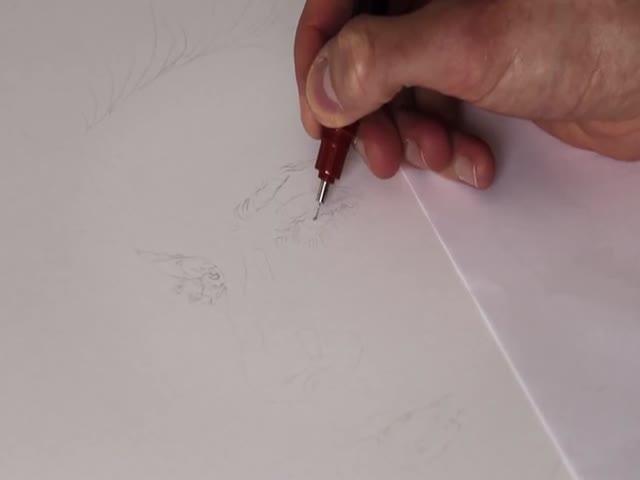 Удивительная техника скоростного рисования