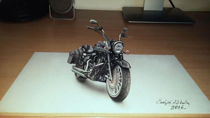 Реалистичные 3D-рисунки Николы Чульича (14 фото)