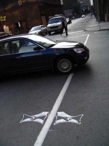 Великолепный стрит-арт на дорогах Монреаля от Питера Гибсона (34 фото)