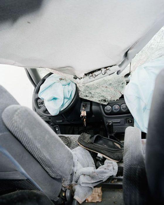 Что видят перед собой водители, попавшие в серьезное ДТП (13 фото)