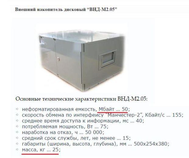 Отечественный внешний жесткий диск на 50 Мб за 3,8 миллиона рублей (2 фото)