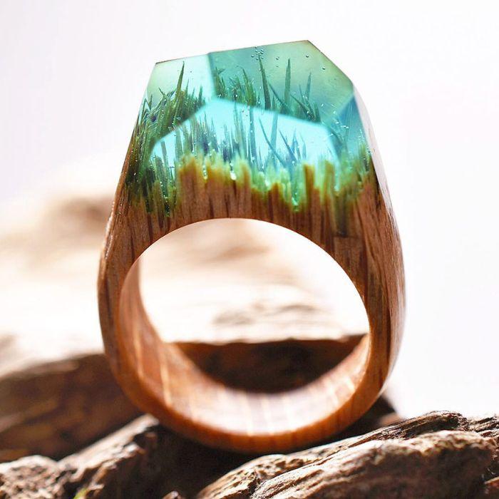 кольца из дерева