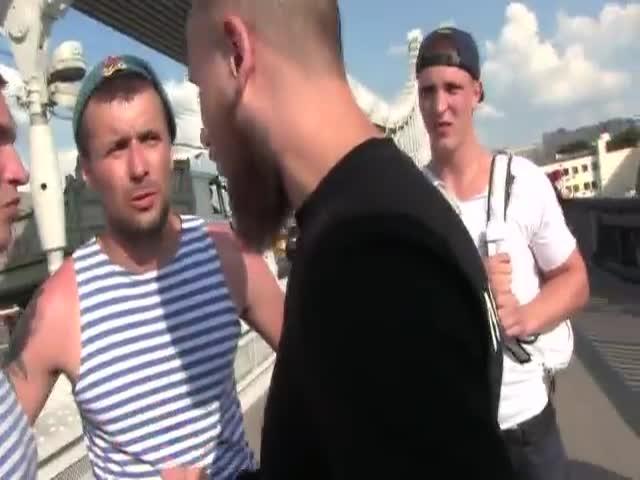 Активисты «Лев против» сцепились с ВДВшниками