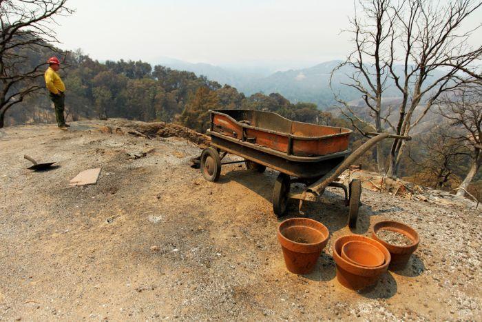 Последствия лесных пожаров в Калифорнии (17 фото)
