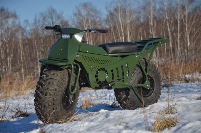 Taurus - уникальный мотоцикл-вездеход отечественного производства (5 фото + видео)
