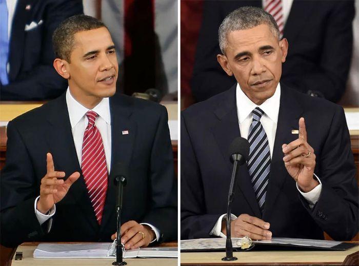 Как изменились президенты США за годы своего правления (10 фото)