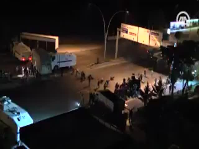Въезд в Анкару во время попытки государственного переворота