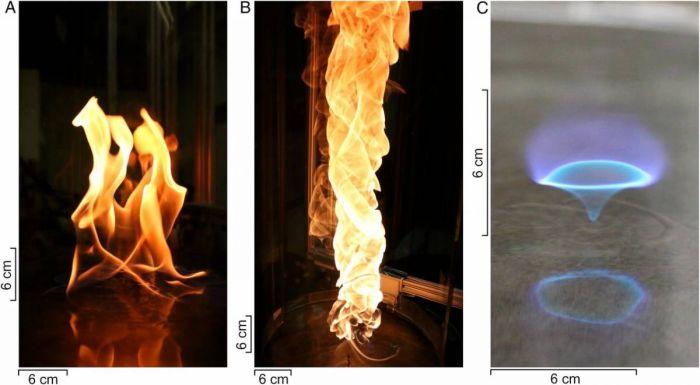 Ученые открыли новый вид пламени – голубое огненное торнадо (2 фото + видео)